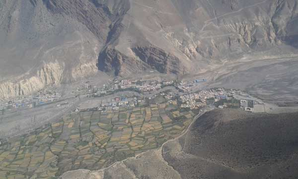 Jomsom view from Helicopter
