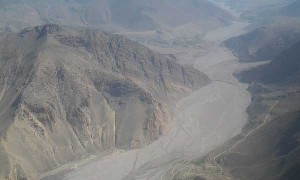 Kaligandaki River view from Helicopter