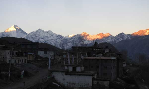 Mountain view from Muktinath