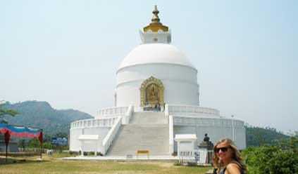 Peace Pagoda at Pokhara