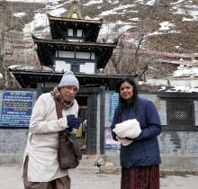 venkata shilpa at muktinath temple